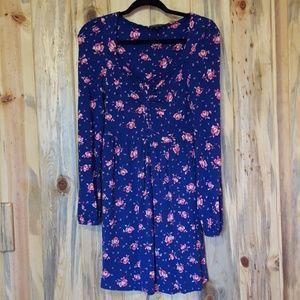Topshop mini peasant dress